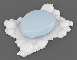 Bubbles Soap Dish 01 3D Model