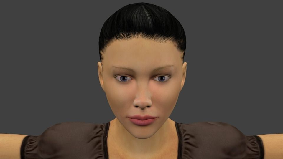 Realistic Character Modeling Blender : Realistic female d model game ready rigged fbx ma mb