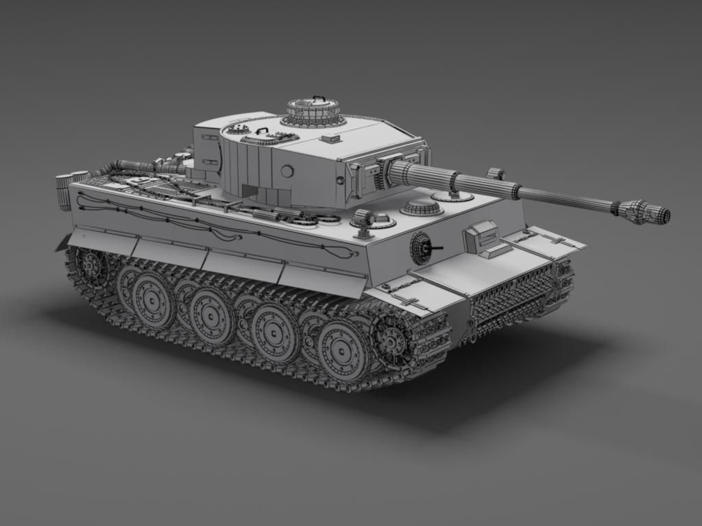 German tiger tank free 3d model max 3ds skp for 3d model viewer