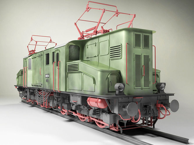 prussian e92 electric locomotive 3d model max obj mtl 3ds skp 1