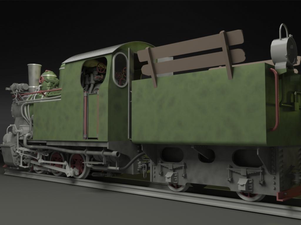 py 27 steam locomotive 3d model max obj 3ds skp. Black Bedroom Furniture Sets. Home Design Ideas