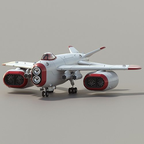 d-1 space superiority fighter hd 3d model animated obj 3ds blend 1