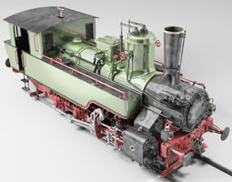 mav 475 steam locomotive tank engine 3d model