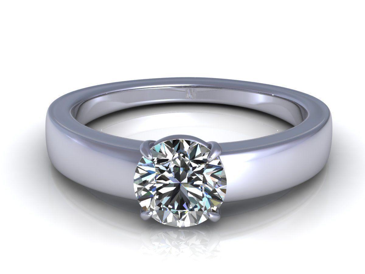 solitaire single stone diamond ring 3d model 3d printable