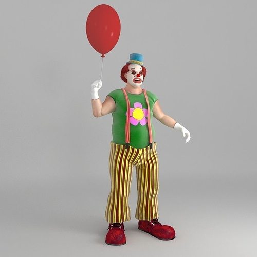 bobby the clown pose 3d model max 1