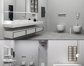 3D model bathtub Bathroom furniture set Bespoke 3