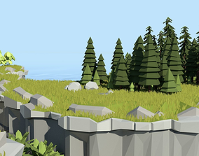 3D model Low Poly Cliff Pack