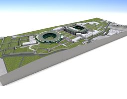 Wimbledon Tennis Club London 3D Model