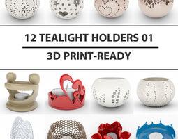 12 Tealight Holders 01 3D Model