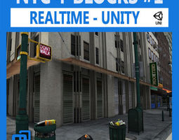 NYC 4 Blocks Unity-Set 1 3D Model