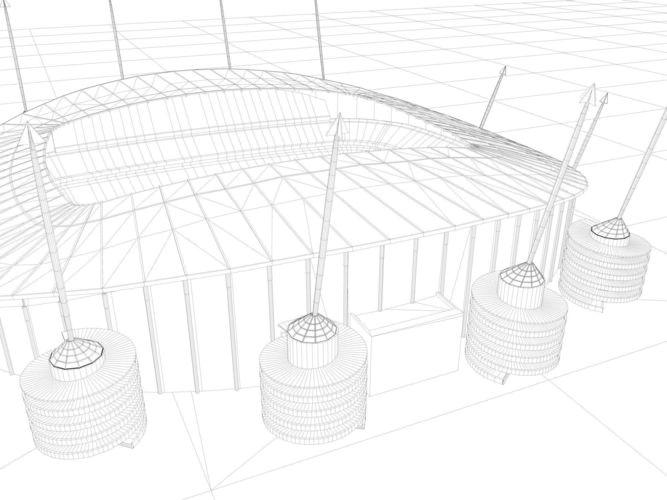 manchester city etihad stadium manchester 3d model rigged