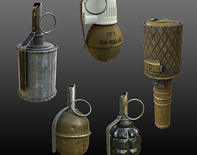 WW2 USSR Russia Grenades Collection 3D asset