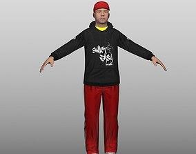 3D asset Hip Hop Low Poly