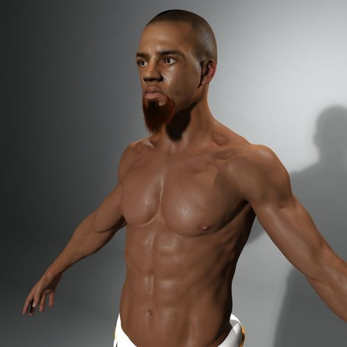 Capoeira Warrior Not Rigged3D model