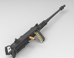 Browning Machine Gun Cal 50 M2HB Flexible 3D Model