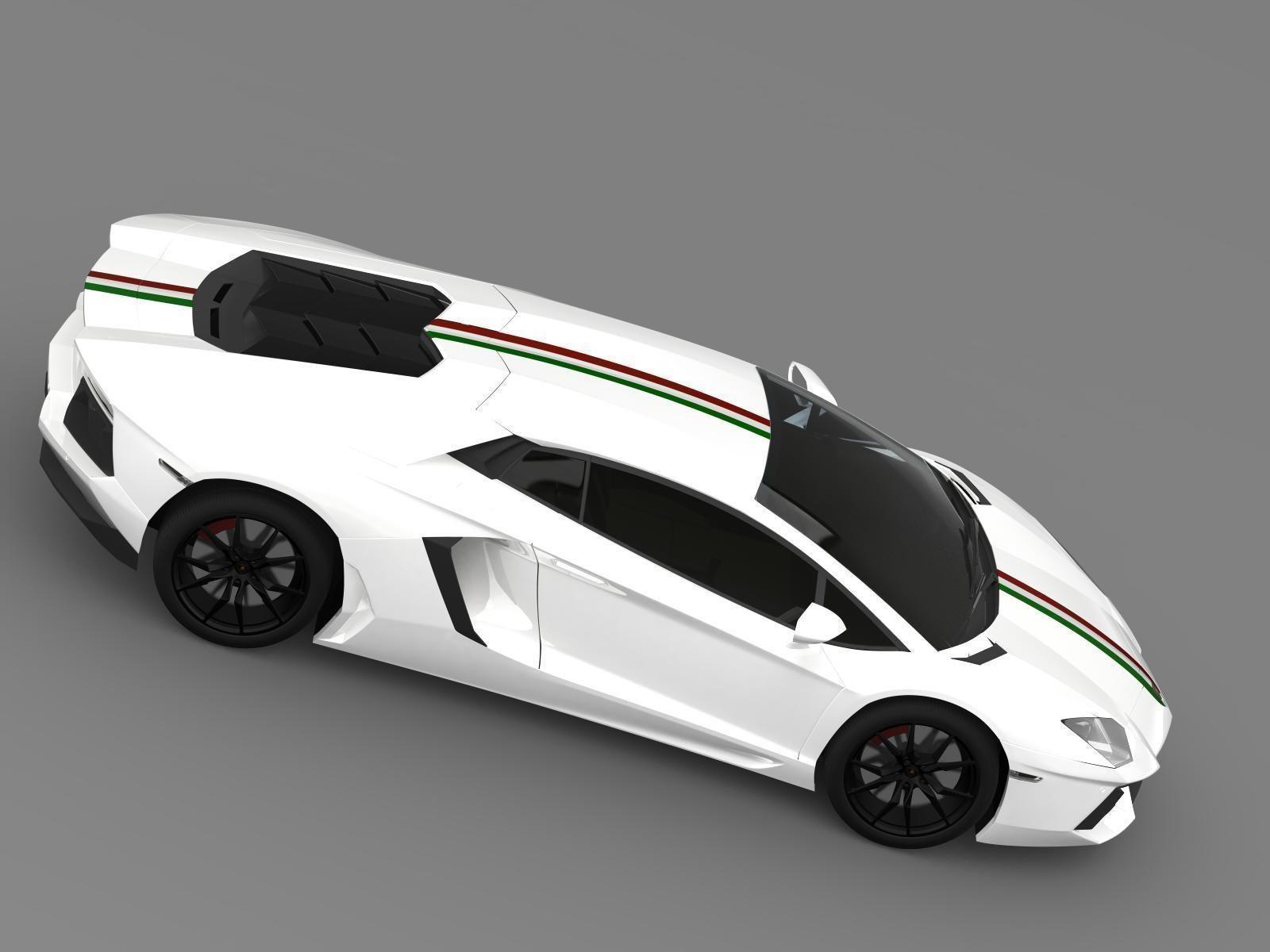 Lamborghini Aventador LP 700 4 Nazionale LB834 2014 3D model MAX