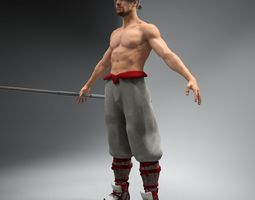 bo fighter not rigged 3d model max fbx
