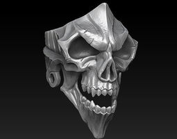 jewellerychallenge 3D printable model Skull Ring