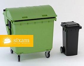 Wheeled-bins 120L 1100L 3D model