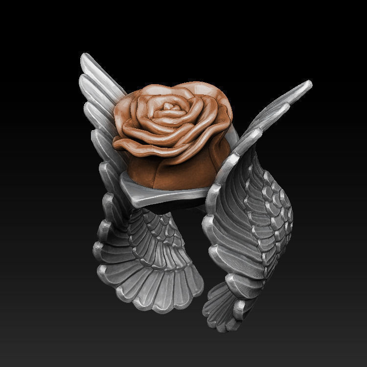 Rose Ring 3D Model 3D Printable .stl