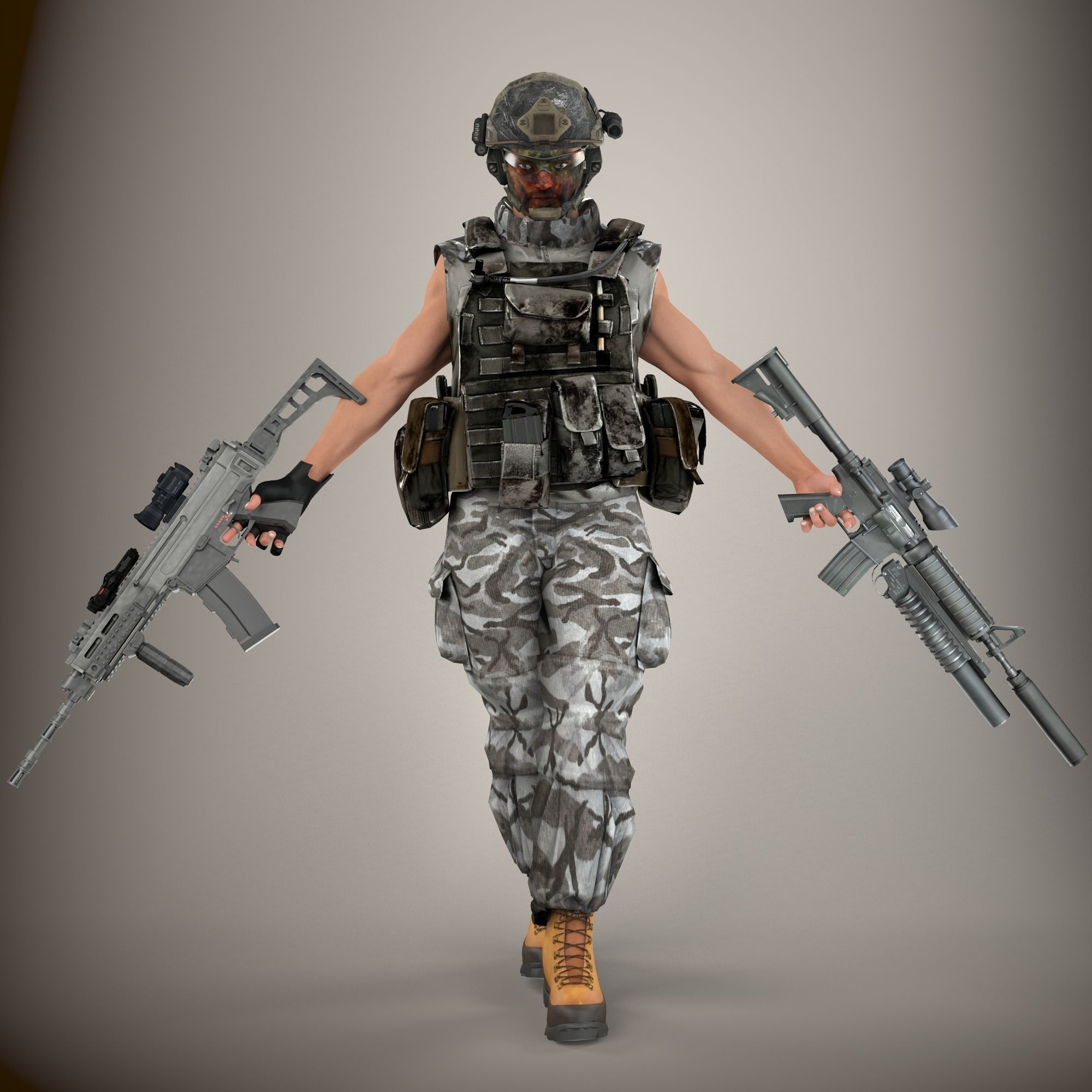 Ultimate Rigged Soldier 3D Model rigged MAX FBX | CGTrader.com