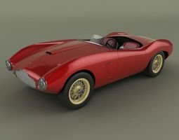 Aston-Martin DB2/4 Spider Competizione 3D Model