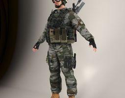 3d model soldier lite v1 nr