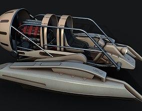 3D asset V8 Airboat