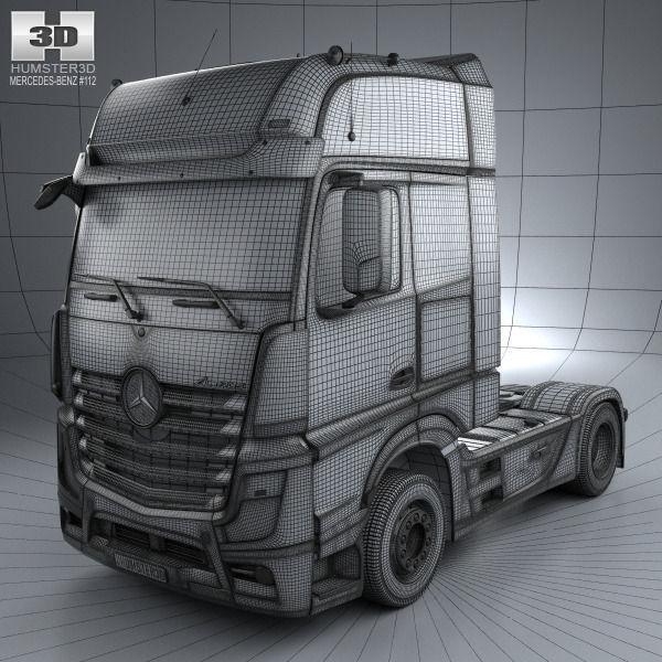 Great ... Mercedes Benz Actros 1851 Tractor Truck 2013 3d Model Max Obj Mtl 3ds  Fbx C4d ...