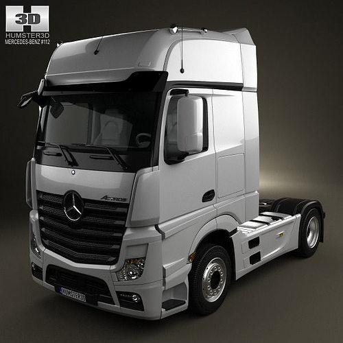 Mercedes benz actros 1851 tractor truck 2013 3d cgtrader for Mercedes benz truck 2013