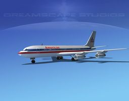 Boeing 707 American Airlines 2 3D Model