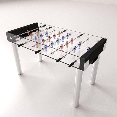 Foosball Table 3d Model Cgtrader
