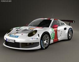 3d porsche 911 carrera 991 rsr 2013