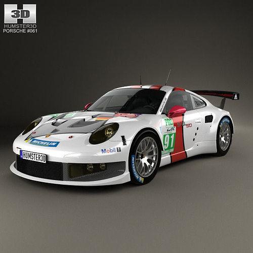 porsche 911 carrera 991 rsr 2013 3d model max obj mtl 3ds fbx c4d lwo lw lws 1