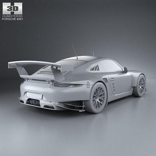 Porsche 911 Carrera 991 RSR 2013 3D Model MAX OBJ 3DS FBX
