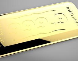 3D printable model Gold Bullion