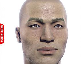 Average Asian Male Head 3D model
