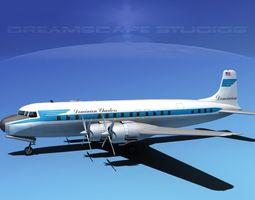 3D Douglas DC-7C Dominion Charter