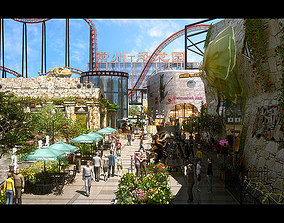 3D model Amusement Park 14