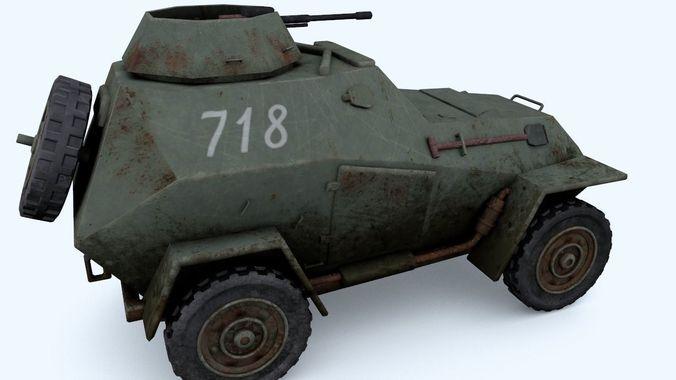 BA-64 light armored car3D model