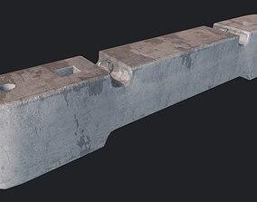 3D asset Concrete Barriers PBR