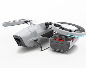 Cargo Quadrocopter Dron Concept 03 3D