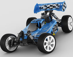 rc buggy model rigged 3d