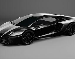 3D Lamborghini Aventador LP 700-4