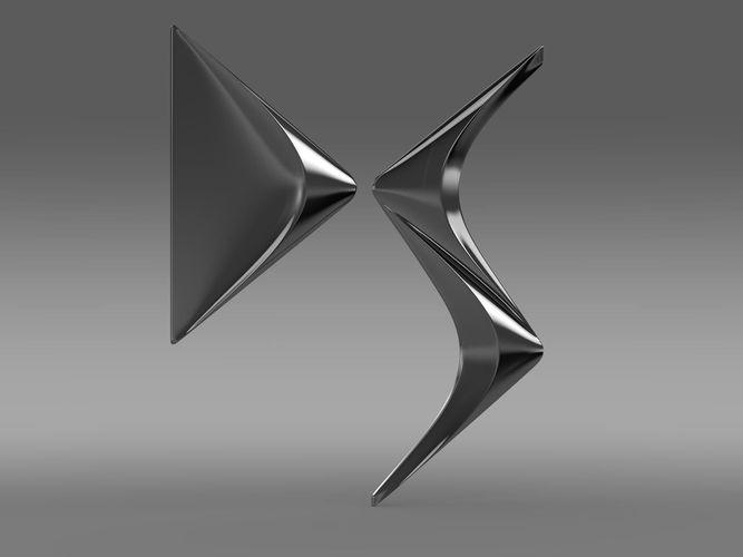 DS logo 3D Model .max .obj .3ds .fbx .c4d .lwo .lw .lws ...