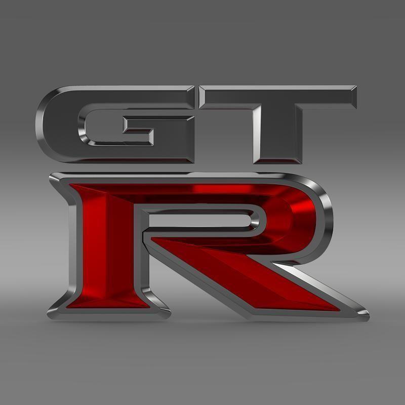 gtr logo 3d cgtrader