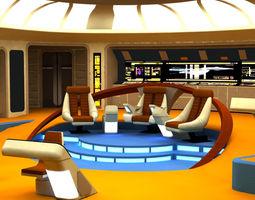 rigged starship bridge yamato for poser 3d model