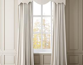 Curtain drape 3D