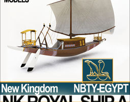 Ancient Egypt Pharaoh Royal Ship New Kingdom 3D Model