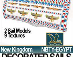 Ancient Egypt NK Decorated Sails 3D Model